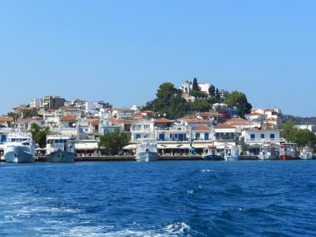 skiathos: The port on the Greek island of Skiathos