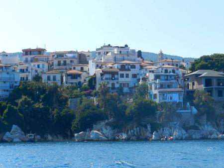 The port on the Greek island of Skiathos Stock Photo - 20854576