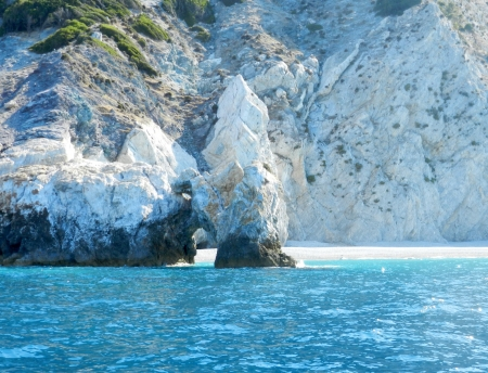 rockwall: Greece, Lalaria beach, Skiathos