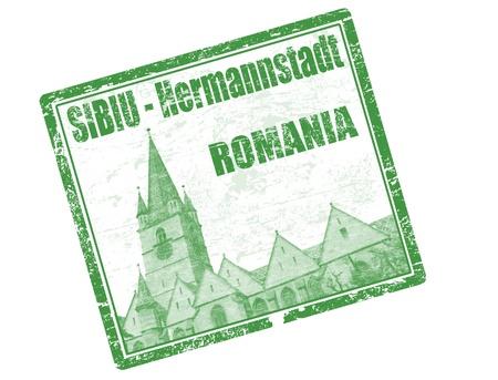 Sibiu - Romania stamp Stock Photo - 20854634