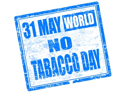 May 31st World no tobacco day stamp  photo