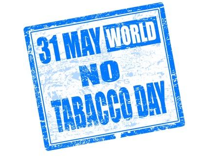 tobacco: May 31st World no tobacco day stamp