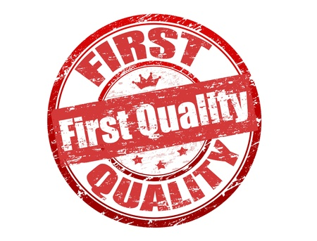 office product: First quality stamp Stock Photo
