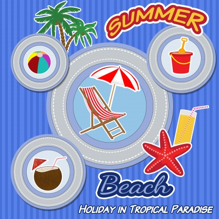Holiday in tropical paradise poster Vector