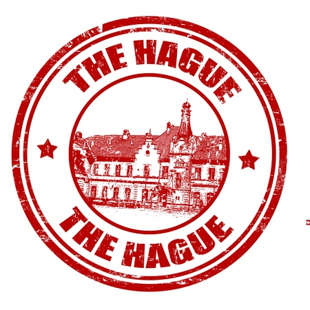 Red grunge rubber stamp with the name of The Hague city, vector illustration Stock Vector - 20989225