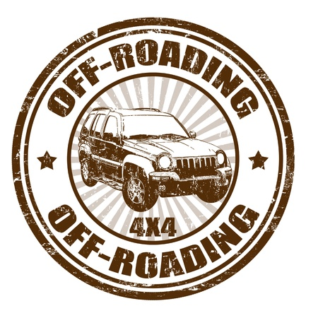 Grunge rubber stamp with the text Off-roading written inside, vector illustration Vector