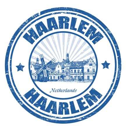 haarlem: Grunge rubber stamp with the name of Haarlem city written inside, vector illustration Illustration