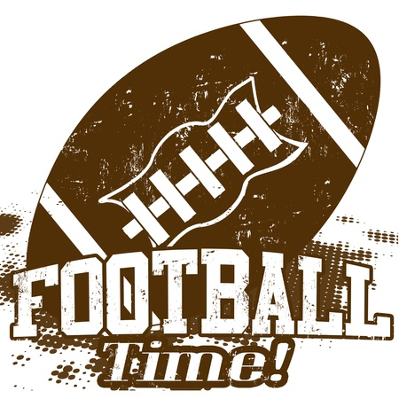 American Football Time grunge poster on white, vector illustration
