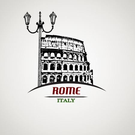 Rome in vitage style poster, vector illustration Stock Vector - 21072403