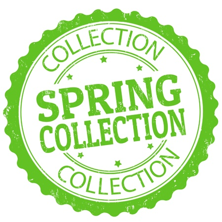 Spring collection grunge rubber stamp, vector illustration Stock Vector - 21072407