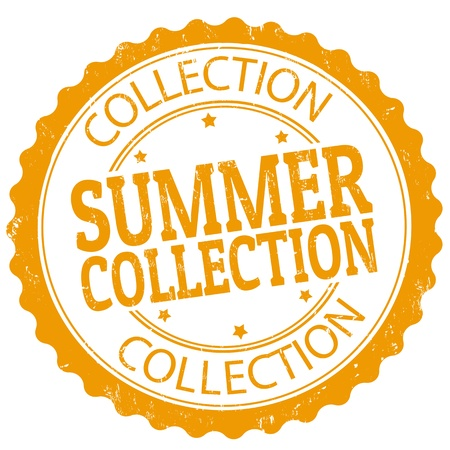 Summer collection grunge rubber stamp, vector illustration Stock Vector - 21072408