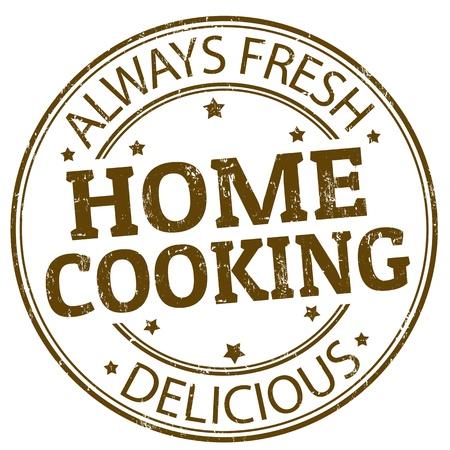Tampon en caoutchouc grunge avec la cuisine à la maison, écrit à l'intérieur du timbre Vecteurs