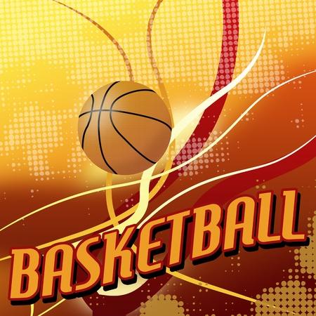 baloncesto: Baloncesto abstracta fondo del cartel, ilustración vectorial Vectores