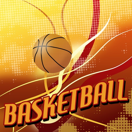 basket: Basket astratto sfondo poster, illustrazione vettoriale