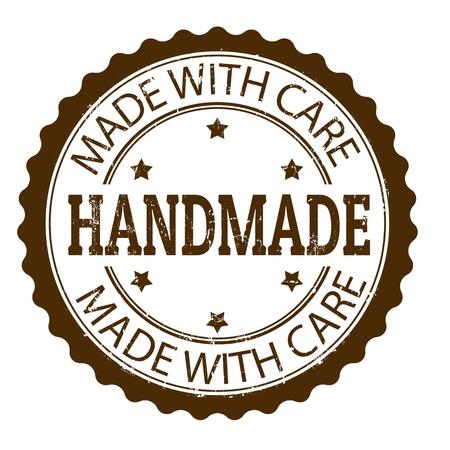 feitas à mão: Handmade selo de borracha do grunge, ilustra