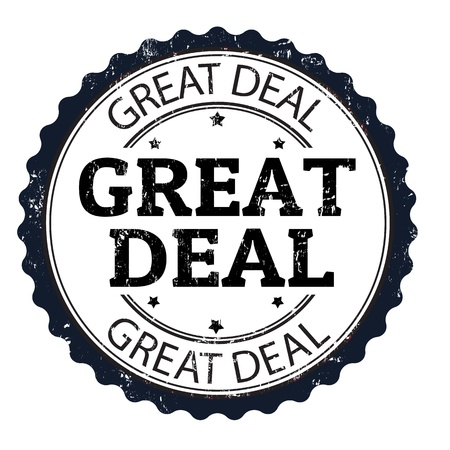 buen trato: Gran oferta grunge sello de goma, ilustración vectorial