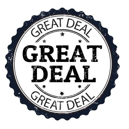 good deal: Great deal grunge rubber stamp, vector illustration Illustration