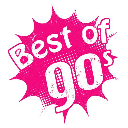 post teen: Grunge rubber stamp with the text Best of 90s inside, vector illustration