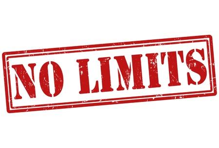 limit: No limit grunge rubber stamp, vector illustration