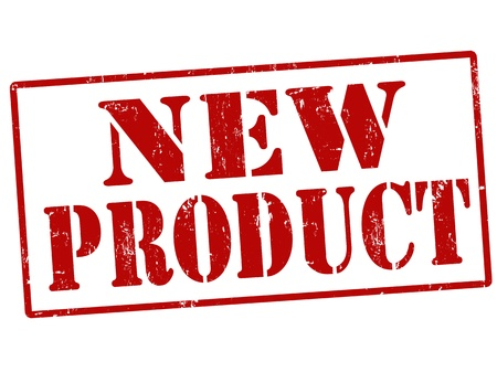 Nieuw product rubber stempel vector illustratie
