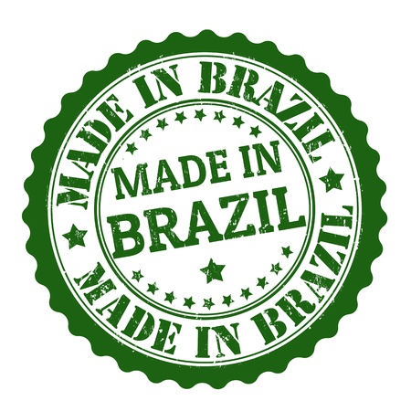 Made in brazil grunge rubber stamp on white, vector illustration Stock Vector - 21313946