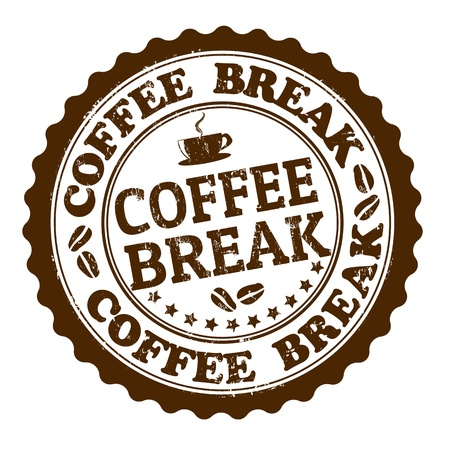 coffee break: Coffee break grunge rubber stamp on white, vector illustration Illustration