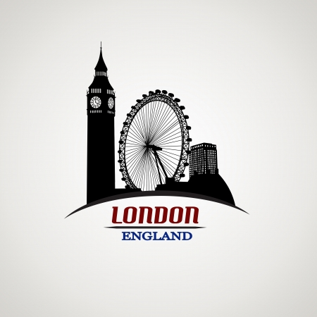 London in vitage style poster, vector illustration Stock Vector - 21424777