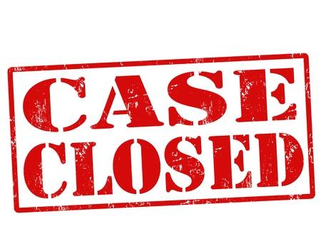 govern: Case Closed red grunge rubber stamp over a white background, vector illustration Illustration