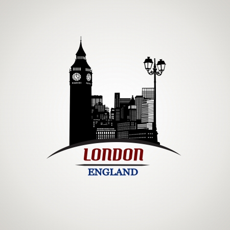 London in vitage style poster, vector illustration Stock Vector - 21424796