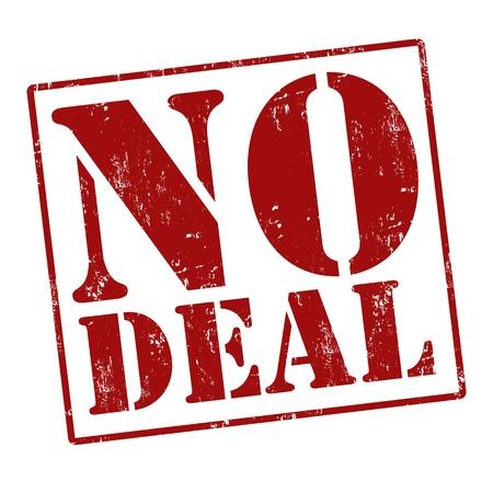barter: No deal grunge rubber stamp over a white background, vector illustration