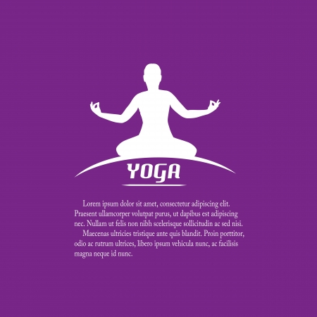 Yoga label with place for your text, vector illustration Stock Vector - 21635589