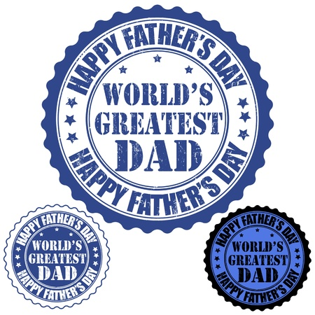 Happy father s day grunge rubber stamp, vector illustration