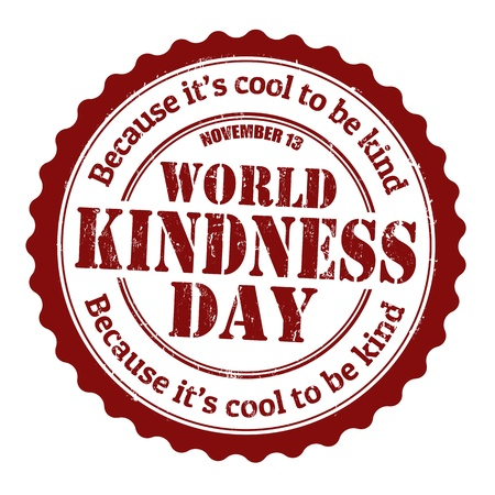 kind of: World kindness day grunge rubber stamp, vector illustration