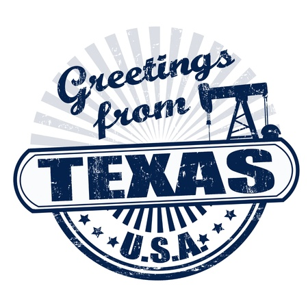 texas: Grunge rubber stamp with text Greetings from Texas , vector illustration