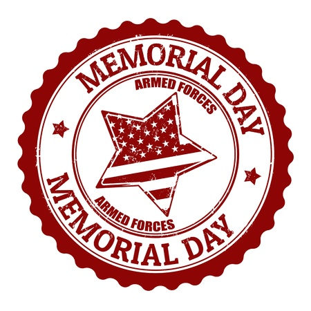 Grunge rubber stamp with text Memorial day inside,vector illustration Illustration
