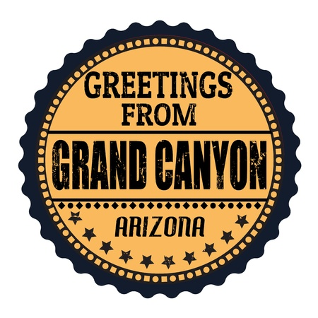 canyon: Grunge rubber stamp with text Greetings from Grand Canyon, Arizona, vector illustration Illustration