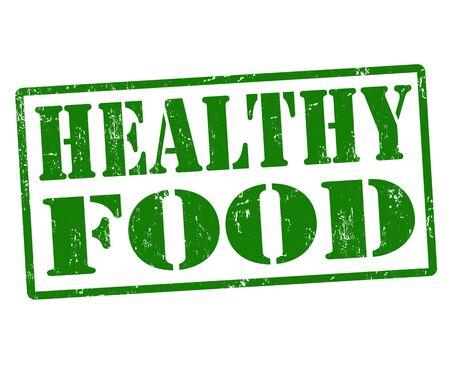 Healthy food grunge rubber stamp, vector illustration Vector