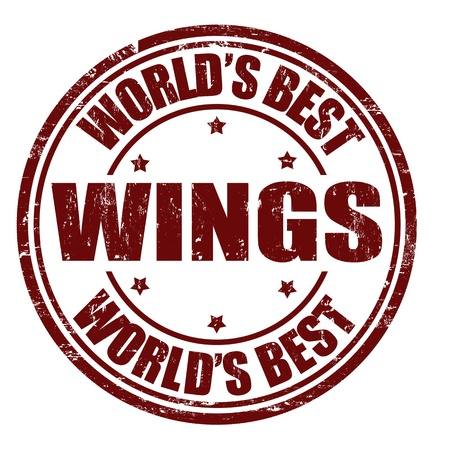 Vleugels grunge rubberen stempel op een witte achtergrond, vector illustratie