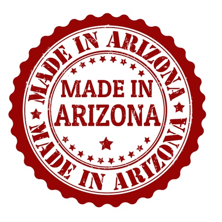 Made in arizona grunge rubber stamp Stock Vector - 21823351