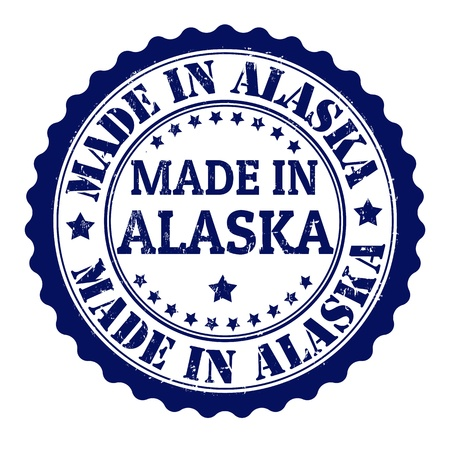 Made in alaska grunge rubber stamp Stock Vector - 21823358