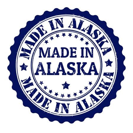 Made in alaska grunge rubber stamp Stock Vector - 21823358