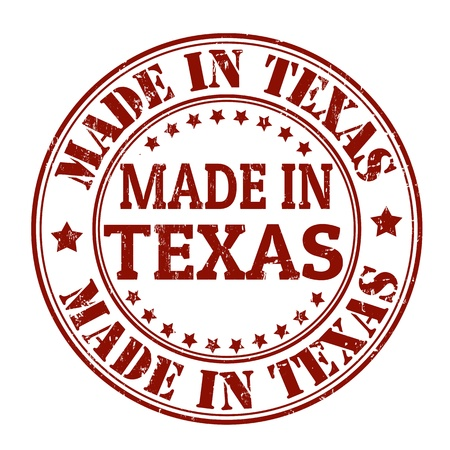 certificated: Made in Texas grunge rubber stamp