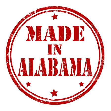 Made in Alabama grunge rubber stamp Stock Vector - 21823572