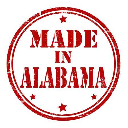 alabama: Made in Alabama grunge rubber stamp