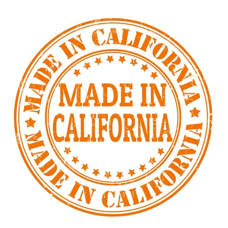 Made in California grunge rubber stamp Stock Vector - 21823574