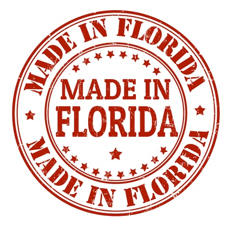 Made in Florida grunge rubber stamp, vector illustration Stock Vector - 21854246