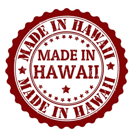 Made in Hawaii grunge rubber stamp, vector illustration Vector