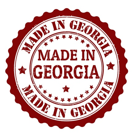 Made in Georgia grunge rubber stamp, vector illustration Vector