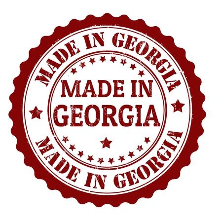 georgia: Made in Georgia grunge rubber stamp, vector illustration Illustration
