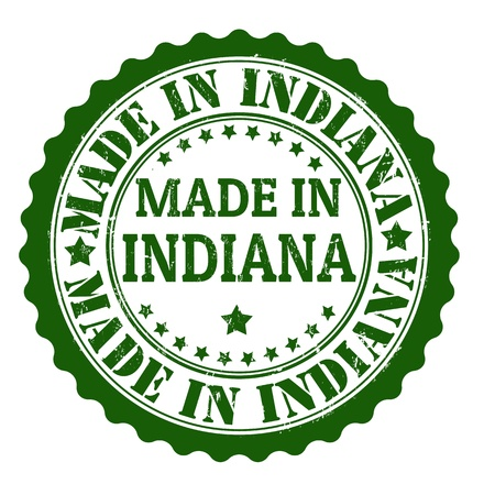 Made in Indiana grunge rubber stamp, vector illustration Stock Vector - 21854274
